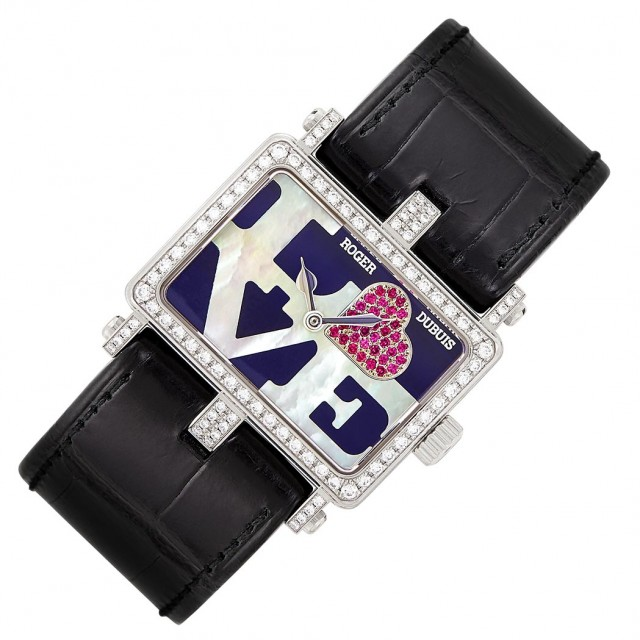 White Gold, Mother-of-Pearl, Ruby and Diamond \'Too Much Limited Edition\' Wristwatch, Roger Dubuis, Ref. 104/888