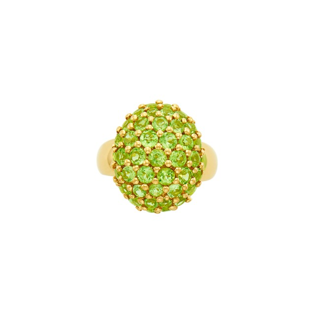 Gold and Peridot Dome Ring, Salavetti