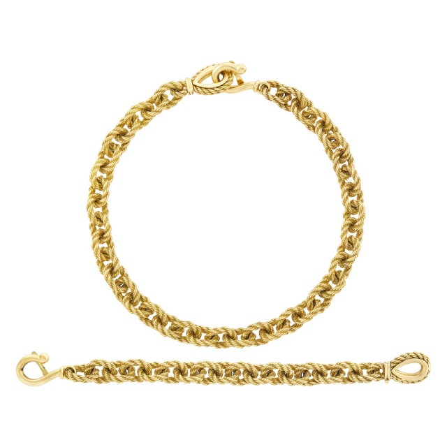 Gold Necklace and Bracelet