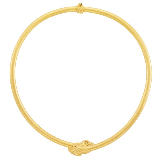 High Karat Gold Choker Necklace, Zolotas