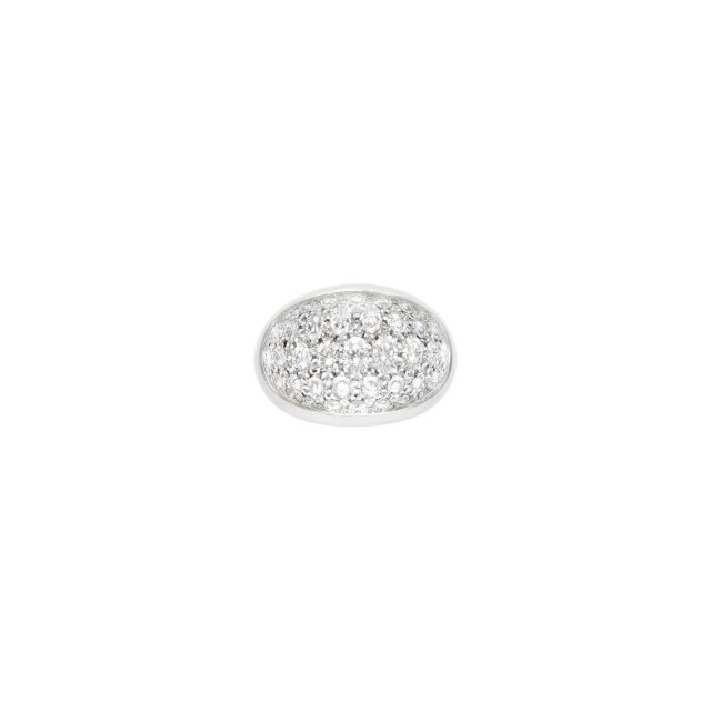 Cartier White Gold, Diamond and Rock Crystal 'Myst' Ring, France