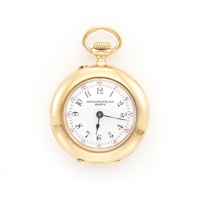 Lady's Gold Open Face Pocket Watch, Patek Philippe