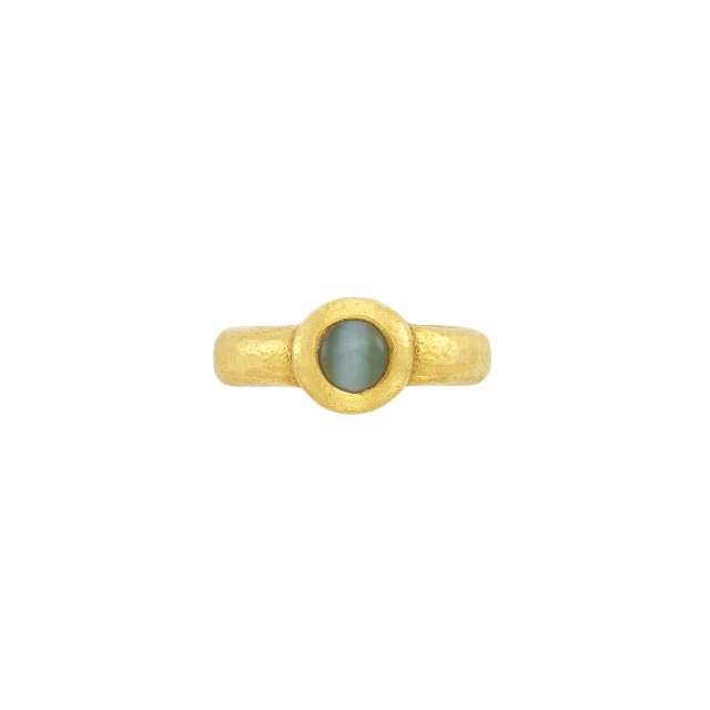 High Karat Gold and Cat's Eye Chrysoberyl Ring, Linda Lee Johnson