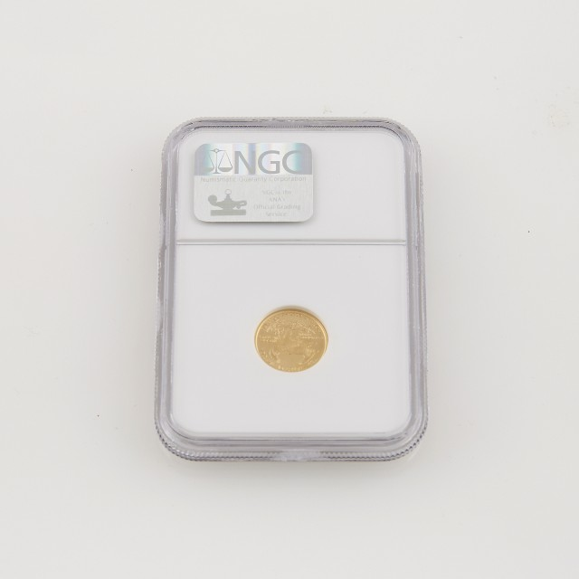 US Gold Coin: American Eagle $5--2001, NGC graded and encased, #1759226-003