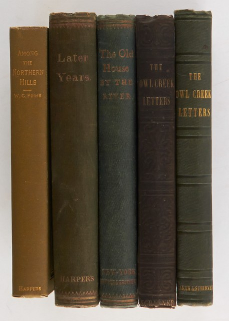 [ADIRONDACKS]  PRIME, WILLIAM COWPER. Five volumes