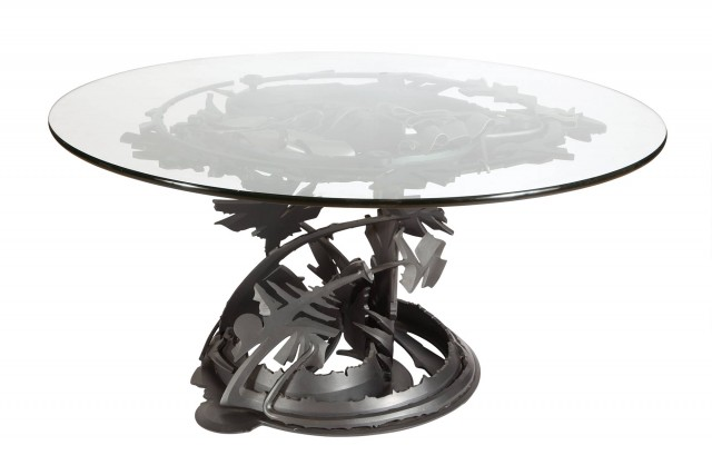 Albert Paley Steel and Glass Dragon\'s Back Table