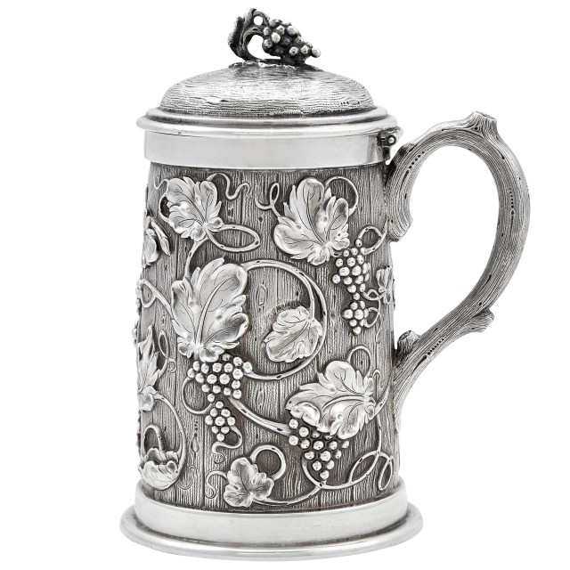 American Silver Covered Tankard