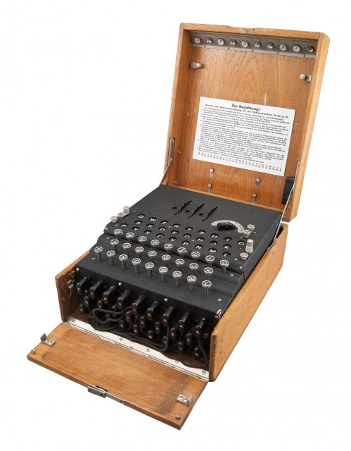 THREE-ROTOR SERVICE ENIGMA MACHINE (ENIGMA I). | Doyle ...