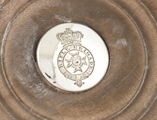 Military Interest: Pair of Sheffield Plate Silver Wine Coasters