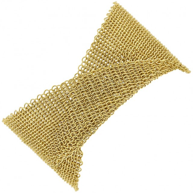08bc7f7de Wide Gold Mesh Bracelet, Elsa Peretti, Tiffany & Co. | Doyle Auction ...