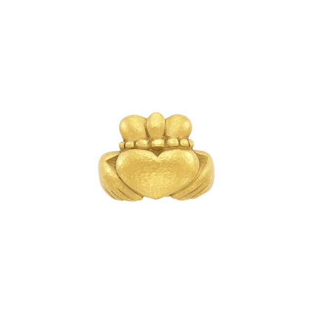 High Karat Gold Claddagh Ring, Linda Lee Johnson