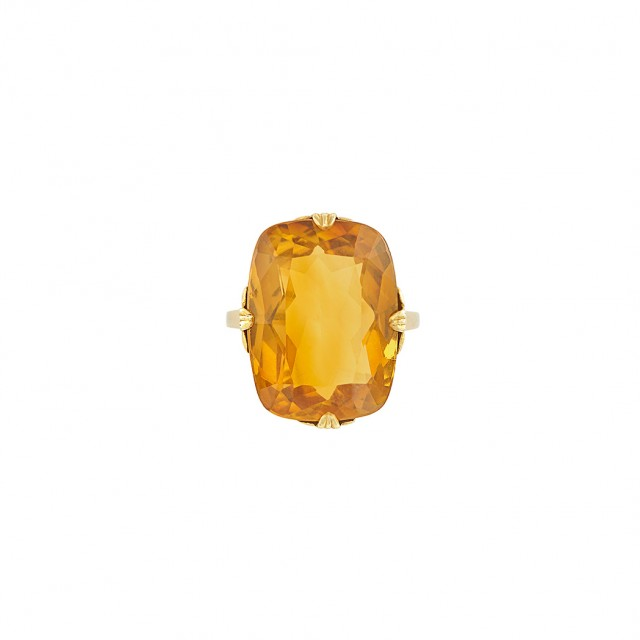 Antique Gold and Citrine Ring, Tiffany & Co.