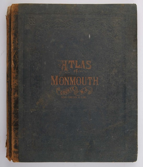 BEERS, F. W.  Atlas of Monmouth Co. New Jersey. From Recent and Actual Surveys and Records.