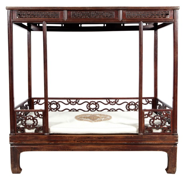 Chinese Elmwood Canopy Bed