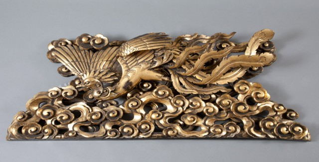 Pair of Chinese Giltwood Architectural Elements