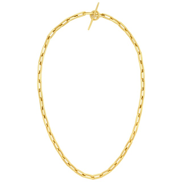 High Karat Gold Link Necklace, Linda Lee Johnson