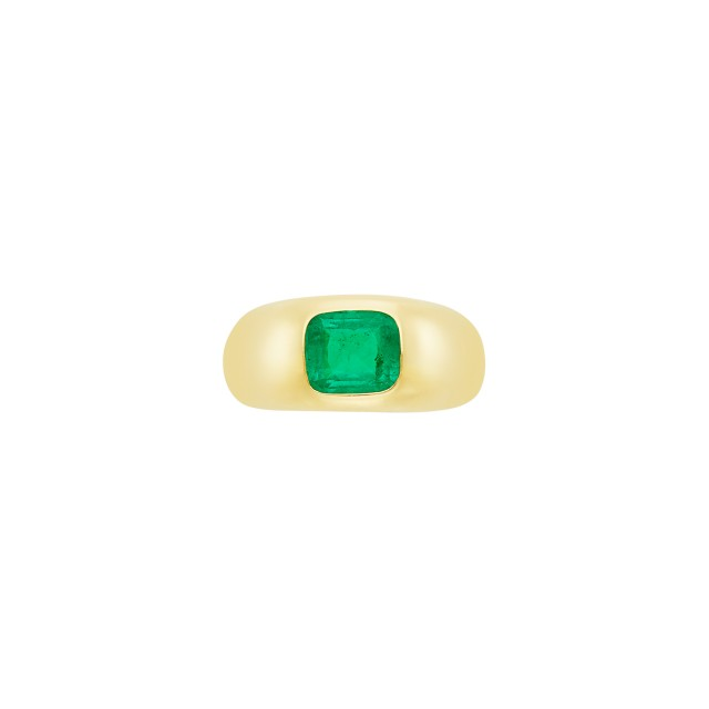 Gold and Emerald Gypsy Ring, Bulgari