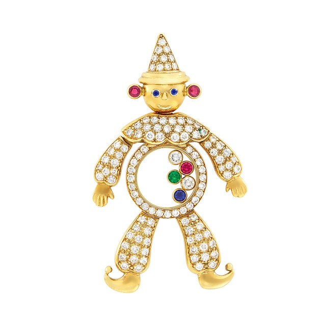 Gold, Diamond, Gem-Set and Crystal \'Happy\' Clown Pendant, Chopard