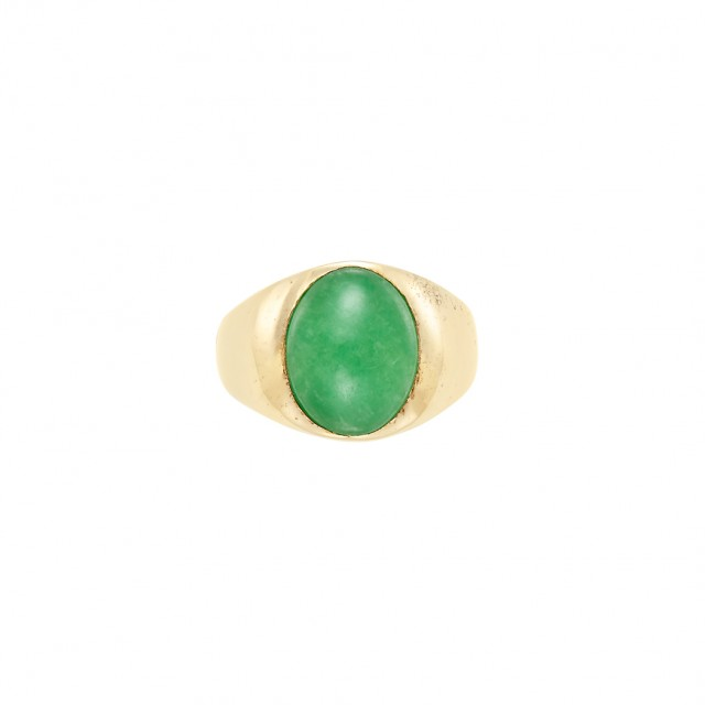 Gentleman\'s Gold and Jade Ring