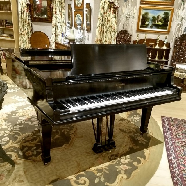 William Knabe Ebonized Mahogany Baby Grand Piano