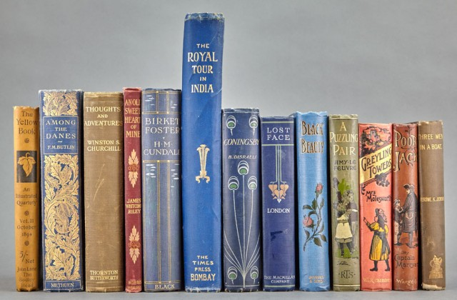 [BOOKS]  A large group of clothbound works