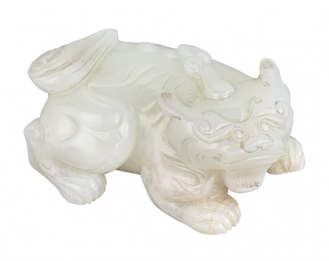 Chinese White Jade Qilin