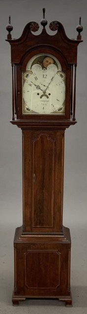 Chippendale Inlaid Mahogany Tall-Case Clock