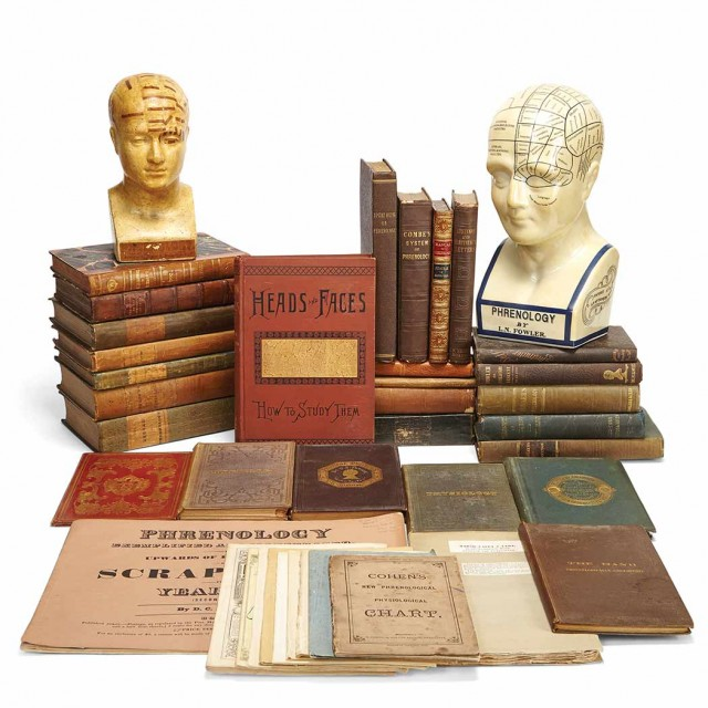 PHRENOLOGY] A fine collection of approximately thirty 19th century books on...