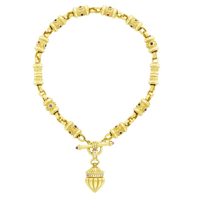 SeidenGang Gold, Diamond and Gem-Set Toggle Necklace