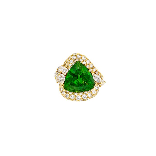 Gold, Peridot and Diamond Ring, Henry Dunay