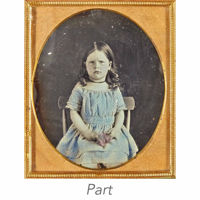 [DAGUERREOTYPE-CHILDREN]   Five images of young children.