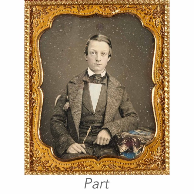 [CASED IMAGES-PORTRAITS]  Group of four daguerreotypes.
