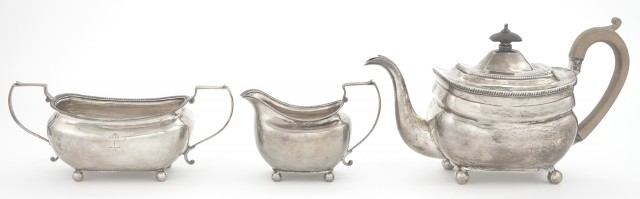 Assembled George III Sterling Silver Tea Service