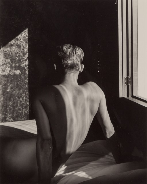 LYNES, GEORGE PLATT (1907-1955)  [Carlos McClendon, back to window],