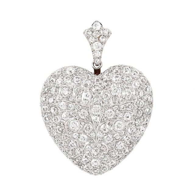 Belle Epoque Platinum, Gold and Diamond Heart Pendant-Brooch, Tiffany & Co.