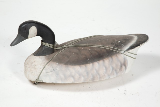 CANADA GOOSE DECOY  Carved and painted decoy of a Canada Goose.