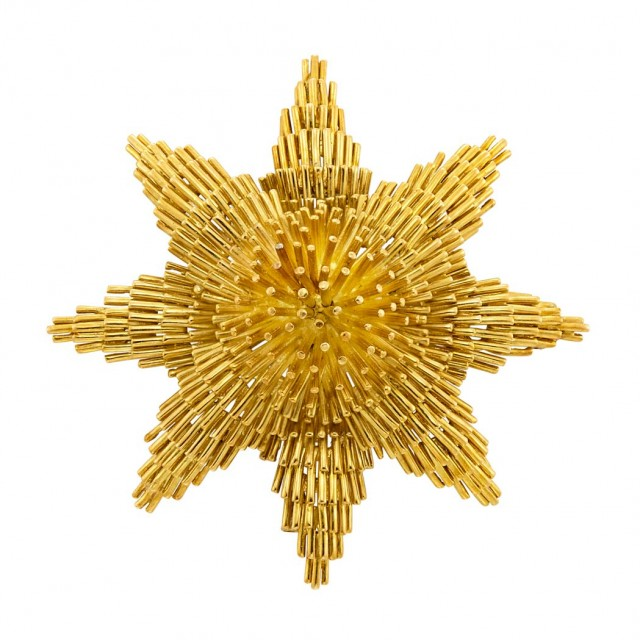Gold Pendant Clip-Brooch, David Webb