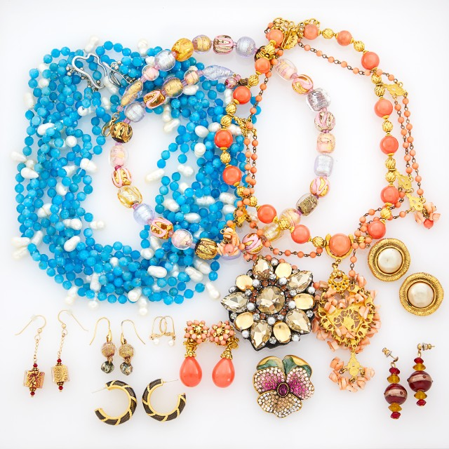 Group of Costume and Bead Jewelry