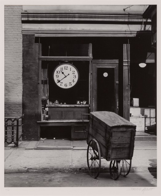 ABBOTT, BERENICE (1898-1991)  Repair shop, Christopher St., New York,