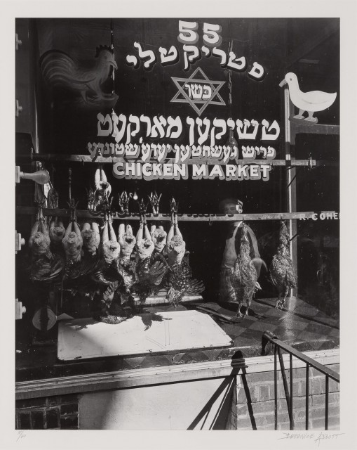 ABBOTT, BERENICE (1898-1991)  Kosher chicken market, New York,
