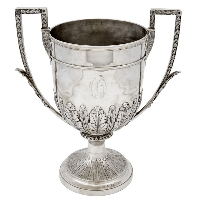 English Sterling Silver Two-Handled Cup