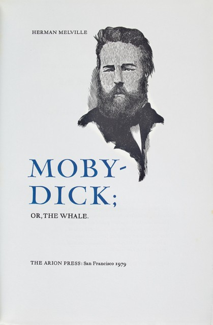 MELVILLE, HERMAN  Moby-Dick.