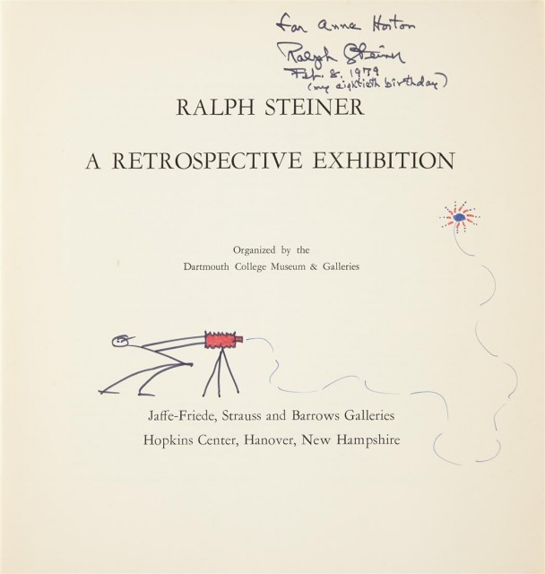 [SIGNED PHOTOBOOKS]  STEINER, RALPH. Two volumes inscribed to Anne Horton.