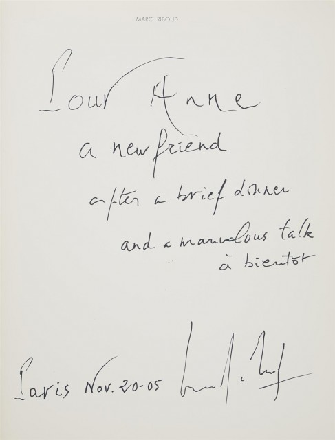[SIGNED PHOTOBOOKS]  Group of three signed or inscribed volumes.