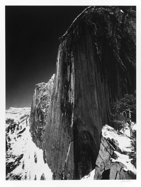 ADAMS, ANSEL (1902-1984)  Monolith, The Face of Half Dome, Yosemite National Park, California, 1927.