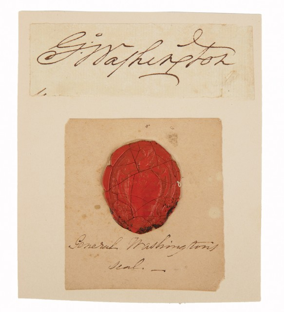 [AUTOGRAPHS - WASHINGTON, GEORGE AND OTHERS]  Album of late 18th and 19th century letters, notes, and signatures mostly sent to the Reverend Professor John McVickar of New York.