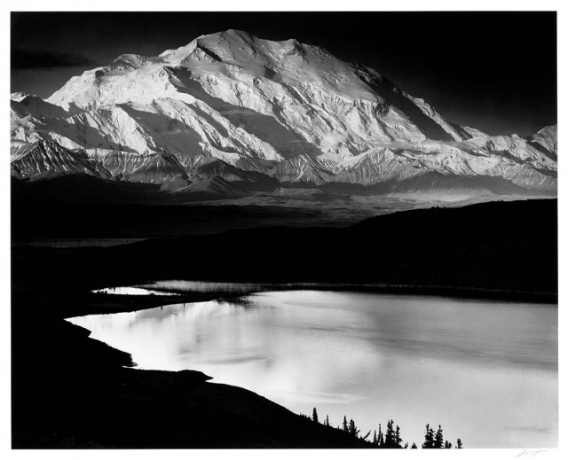ADAMS, ANSEL (1902-1984)  Mt. McKinley and Wonder Lake, Mt. McKinley National Park, Alaska, 1947.