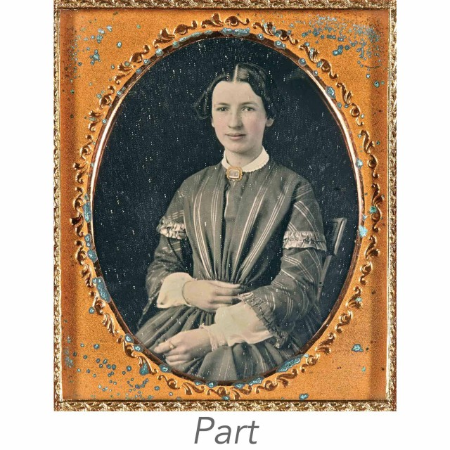 [DAGUERREOTYPES-PORTRAITS]  Group of portraits of women.