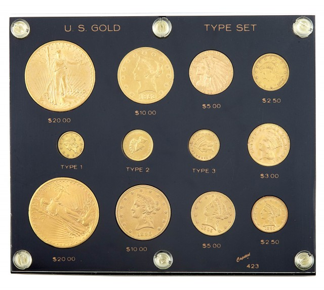United States Twelve Piece Gold Group