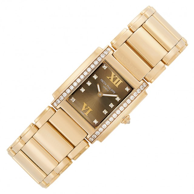 Rose Gold and Diamond \'Twenty-4\' Wristwatch, Patek Philippe, Ref. 4910/11R-010